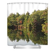 Reflections Two At Pearce Lake Breakheart Shower Curtain