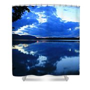 Reflective Blues On Lake Umbagog  Shower Curtain