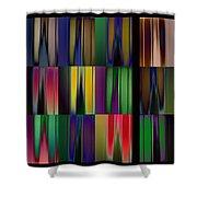 Reflective Blurs Shower Curtain