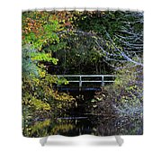 Reflective Fall Shower Curtain
