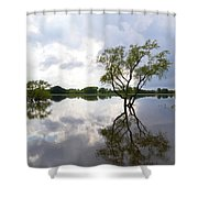 Reflective Flood Waters Shower Curtain