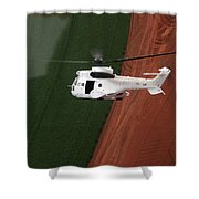 Reflective Helicopter Shower Curtain