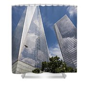 Reflective Skyscrapers Shower Curtain