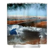 Reflective Springs Shower Curtain