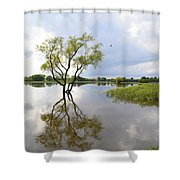 Reflective Times Shower Curtain