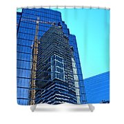 Reflective Towers Shower Curtain