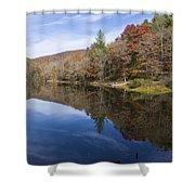Reflection On Lake Winfield Scott 2 Shower Curtain