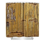 Refrigerated Boxcar Door Shower Curtain