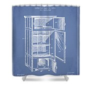 Refrigerator Patent From 1901 - Light Blue Shower Curtain