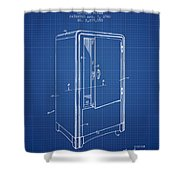 Refrigerator Patent From 1942 - Blueprint Shower Curtain