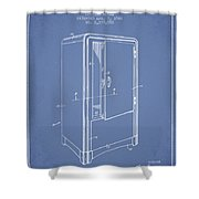 Refrigerator Patent From 1942 - Light Blue Shower Curtain