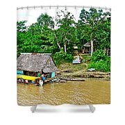 Refueling Along The Amazon River-peru  Shower Curtain