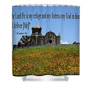 Refuge And Fortress Shower Curtain