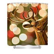 Regal Reindeer Shower Curtain