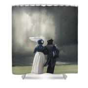 Regency Couple Shower Curtain by Joana Kruse
