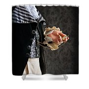 Regency Man With A Pocket Watch Shower Curtain