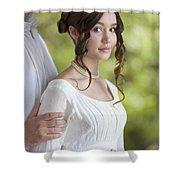 Regency Period Couple Shower Curtain