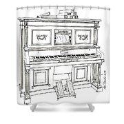 Regina Player Piano Shower Curtain