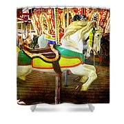 Rehoboth Charger Shower Curtain