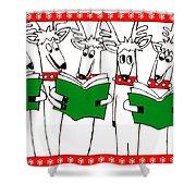 Reindeer Choir Shower Curtain