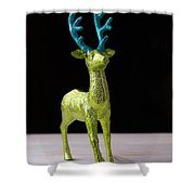 Reindeer Christmas Card Shower Curtain