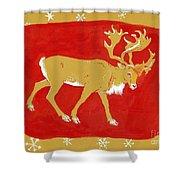 Reindeer Shower Curtain by George Adamson