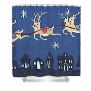 Reindeer Shower Curtain