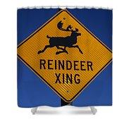 Reindeer Xing Shower Curtain