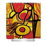 Relativity 2 Shower Curtain