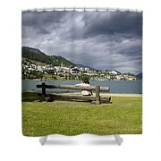 Relax In St Moritz Shower Curtain