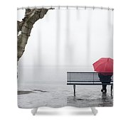 Relax In The Rain Shower Curtain