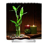 Relaxation And Meditation  Shower Curtain