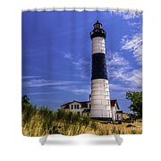 Relaxing By Big Sable Light Shower Curtain
