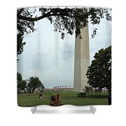 Relaxing By The Washington Monument Shower Curtain