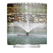 Relaxing In The Park Shower Curtain