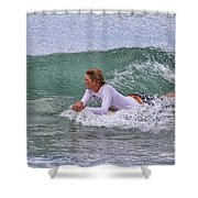 Relaxing In The Surf Shower Curtain