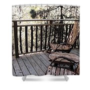 Relaxing In The Woods Shower Curtain