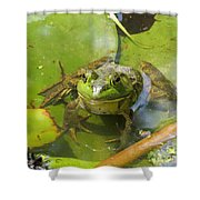 Relaxing On A Lily Pad  Shower Curtain