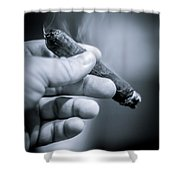 Relaxing With A Cigar Shower Curtain