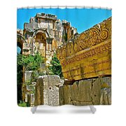 Relief In The Coutyard In Myra-turkey Shower Curtain