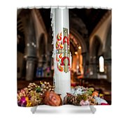 Religious Candle Shower Curtain