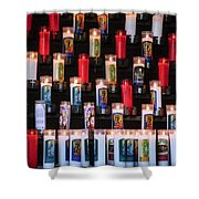 Religious Candles Shower Curtain
