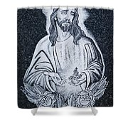 Religious Icons In Spanish Cemetery Shower Curtain