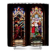 Religious Stained Windows Shower Curtain