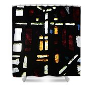 Religious Symbols In Glass Shower Curtain