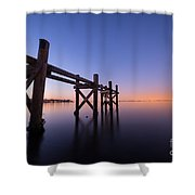 Remaining Pilings Shower Curtain