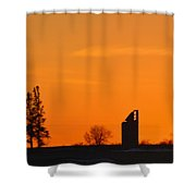 Remains Of A Farm Panorama Shower Curtain