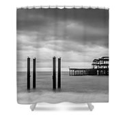 Remains Of The West Pier In Brighton Shower Curtain