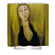 Sophisticated Lady With The Dreamy Eyes Shower Curtain