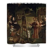 Rembrandt In His Studio Shower Curtain